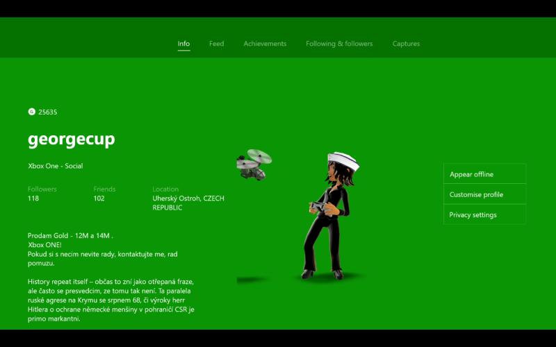 ONE - gamer profile
