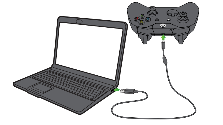 notebok-with-xbox-one-controller