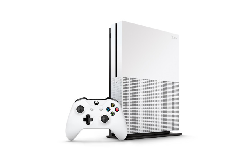 Xbox One S Console Vertical Right Angle